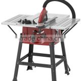 10 inch table saw for woodwork with steel table and 3 extension tables
