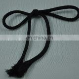 black cotton braided rope