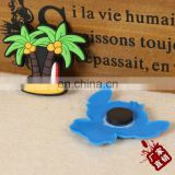 High quality coconut tree design soft pvc rubber refrigerator magnet / rubber fridge magent