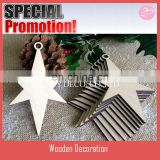 10 Wooden STARS for Christmas Tree Decorations garland, Gift Tags, Blank Craft Shapes