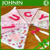 Short Delivery DIY Small Cute Design Party Baby Bunting Flags