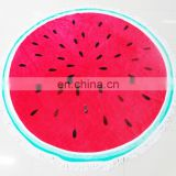Cool watermelon shaped round beach towel