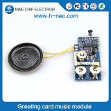 Greeting sound module light sensor music chip for birthday card
