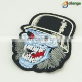 Horror avatar different custom design cheap embroidered badge patch iron on shoes hat