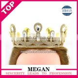 Wedding formal bride crown gold rhinestone crown
