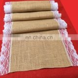 Lace Rustic Country Wedding Decorations Centrepiece Hessian Burlap Table Runner
