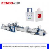ZB1260SF Fully Automatic Sheet Fed Shopping Gift Garment Paper Bag Sack  Making Machine with Flat Handle