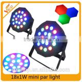 Hot Mini flat lamp light 18x1w mini led flat par can light                                                                                                         Supplier's Choice