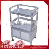 Beiqi Beauty Salon Furniture Salon Trolley Durable Tier Work Surfaces 4 Quality Casters for Easy Mobility
