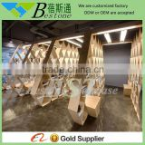 wood store furniture shoes display shelf for retail shop