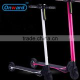 Onward smart balance board 2 wheels standing up electric scooter wiht kick and handle bar