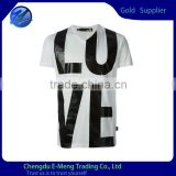2015 Wholesale Cheap Price Men Printing T-shirt Apparel in White                                                                         Quality Choice