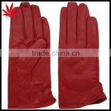 New Womens Ladies Lined Soft Genuine Leather Winter Driving Dress RED Gloves                                                                         Quality Choice