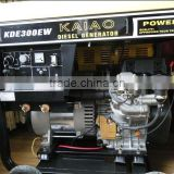 DC 300A AC Single phase 3KW diesel welder double use generator power set(KDE300EW)