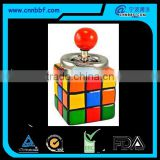 New style magic cube shape tin spinning ashtray