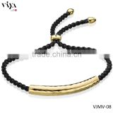 Fashion Jewelry Monica Vinader Bracelet Lady Killer Trendy Fine Jewelry Black Rope Gold Plated Stainless Steel