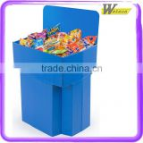 hot sale promotion advertising cardboard dump bin display stand for rubber fish Toys for baby