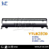 off road led light bar auto spare parts 4x4 led light bar 280w auto accessory led light bar