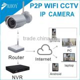 bullet waterproof wifi ip camera wireless,hd wifi nvr camera kit,vision wireless security camera
