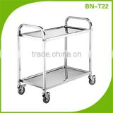Stainless Steel Heavy Duty Restaurant Service Trolley/Foldable Stainless Steel Food Service Trolley Cart BN-T22