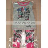 children pajamas Monster high long sleeve top and long trousers 2 pcs sleeping children wear