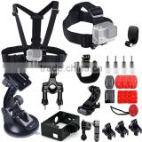 camera sport go pro heros accessories kit include head chest belt strap mount