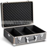 mantona Photo Hard Case Basic M - Black (with foam inlay and dividers, keys, aluminium hardcase)