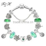 Fashion Jewelry Diy 12 Zodiac signs european charms bead bracelet wholesale fits promotional gift for women