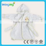 100% Cotton baby robe hooded baby bathrobe wholesale