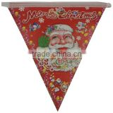 2015 new Christmas tree santa pennant flags Christmas decorations wholesale high-grade paper
