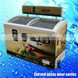 SD-288 Deep ice cream open top refrigerator single-temp form top door industrial freezer