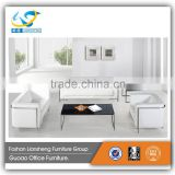 White PU or Leather Luxury Sectional Person Living Office Sofa Furniture Set S728