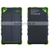 Wholesale Hot selling waterproof 8000mAh mobile outdoor Universal Solar Emergency power bank