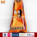 2015 Hot Sale cartoon Characters printed 100% cotton cheap personalized beach towels for kids