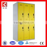 Modern 6 compartment steel locker/6 door Clothing locker with hanging rods/6 door Locker low price
