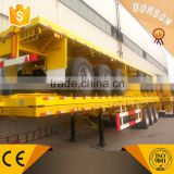 Steel Material Container Iso 3 Axle Flat Bed Semi Trailer Truck And Trailer Dimensions For Sale