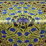 Indian Suzani Designer Decorative Embroidered Bed Cover Custom Design, Drop Shipping Bed Sheet