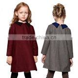 Baby-Girls Winter Wool Dress with Peter Pan Collar Kids Clothes Manufacturer OEM Type ODM Factory Guangzhou