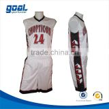 Digital pritning breathable cutomized template youth boys high school basketball uniforms
