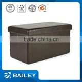 furniture promotional wooden seat cube leather folding stool