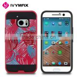 Free samples phone case durable printing hair line PC hybrid combo case for HTC M10                                                                                                         Supplier's Choice