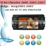 touch screen car dvd player fit for Jeep old Chrysler 300C 2005 - 2007 with radio bluetooth gps tv