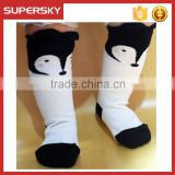 A-266 Fox Kids Knee Socks Fox Animal Design Toddlers Socks Baby Toddlers Fox Animal Socks