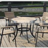 metal bistro chairs with table