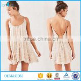 one piece backless with strap wrap design and appliqued new design white cherry dress