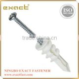 Nylon speed anchor with screw Nylon fixing anchor with nail screw