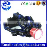 Outdoor Cree XML T6 led warning light headlamp red and blue color flashing signal light flashing led light for