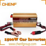 CE Approval Cheaper Cigarette Lighter Intelligent 12v dc 1500w car inverter with usb port