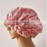 2015 HOT seller !silk/poly sleeping cap with lace border