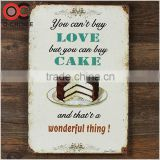 You can't buy love but you can buy cake design for house decor metal tin signs